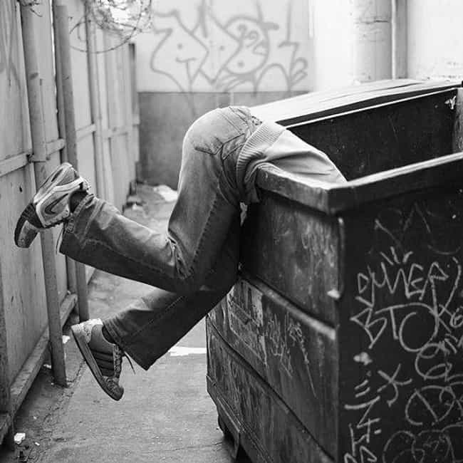 Dumpster Diving Takes on a Who... is listed (or ranked) 3 on the list 13 Things That Happen When Someone Steals Your Hockey Gear