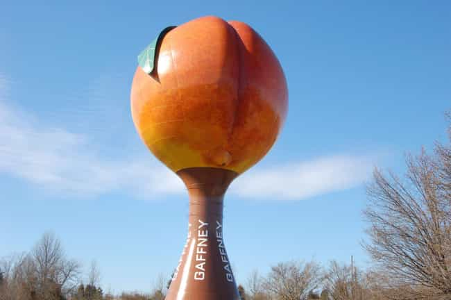 The Gaffney Peachoid Exists is listed (or ranked) 2 on the list House of Cards Plot Points That Happened IRL