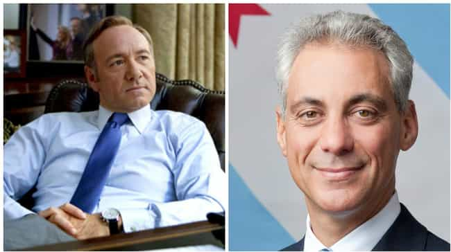 Frank Underwood Messed with th... is listed (or ranked) 3 on the list House of Cards Plot Points That Happened IRL