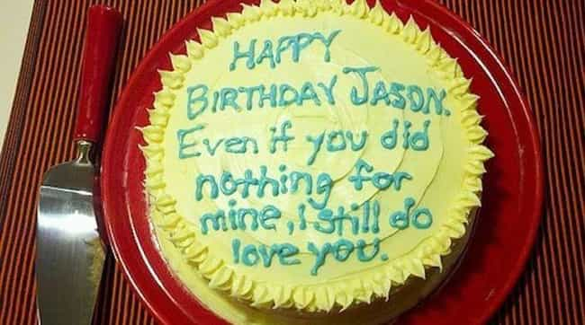 Hint Hint, Jason. is listed (or ranked) 4 on the list Passive Aggressive Cakes That Have Had It with You
