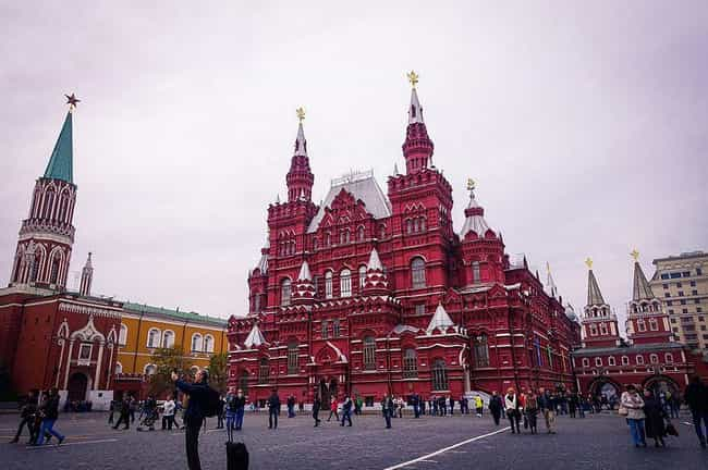 Red Square (During the C... is listed (or ranked) 3 on the list Places That Are Surprisingly Easy to Sneak Into