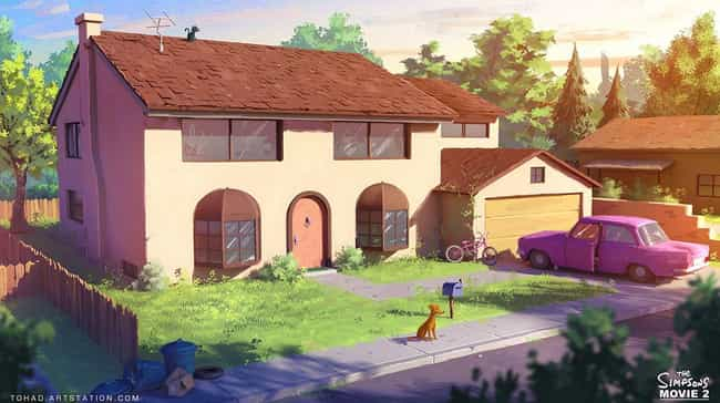 742 Evergreen Terrace is listed (or ranked) 1 on the list The Funniest Simpsons Fan Art