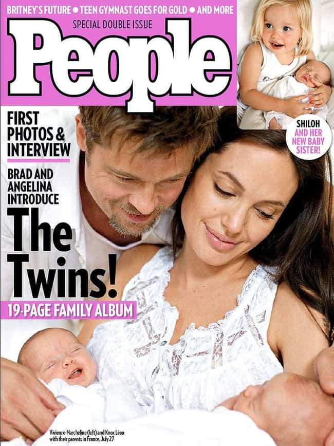Knox and Vivienne Jolie-Pitt&#... is listed (or ranked) 2 on the list Celebrity Pictures That Fetched a Ton of Money from Tabloids