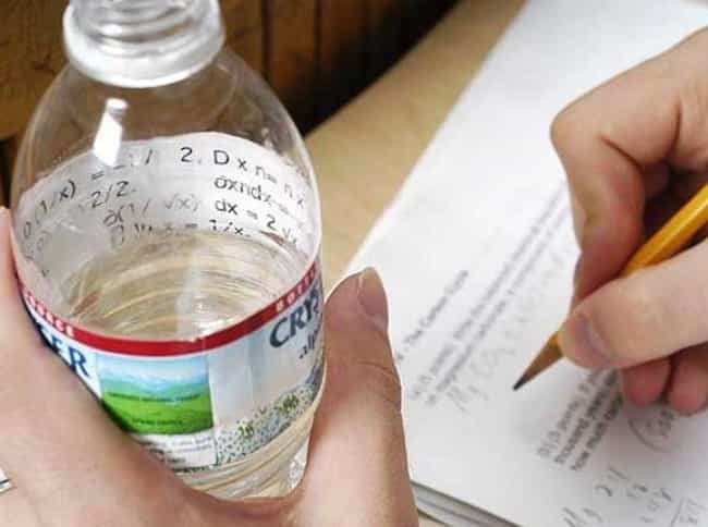 It's Just Water is listed (or ranked) 2 on the list 24 Creative Exam Hacks to Help You Cheat