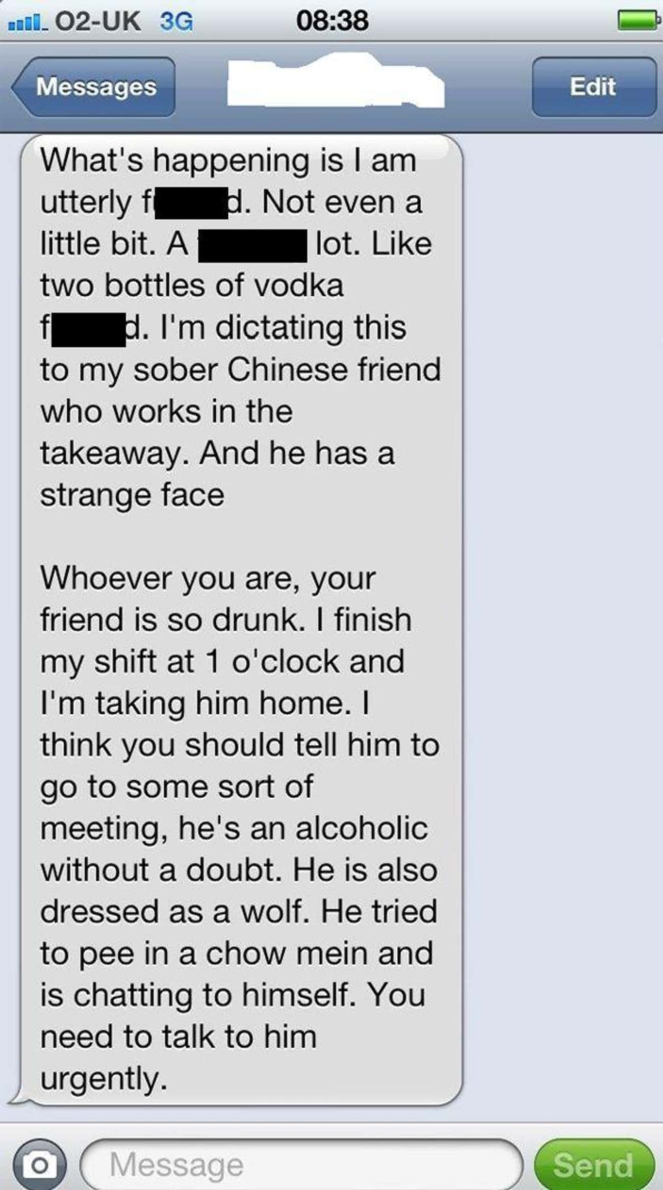 When Your Typist Starts Insert is listed (or ranked) 1 on the list Hilarious Drunk Texts From People Talking Nonsense