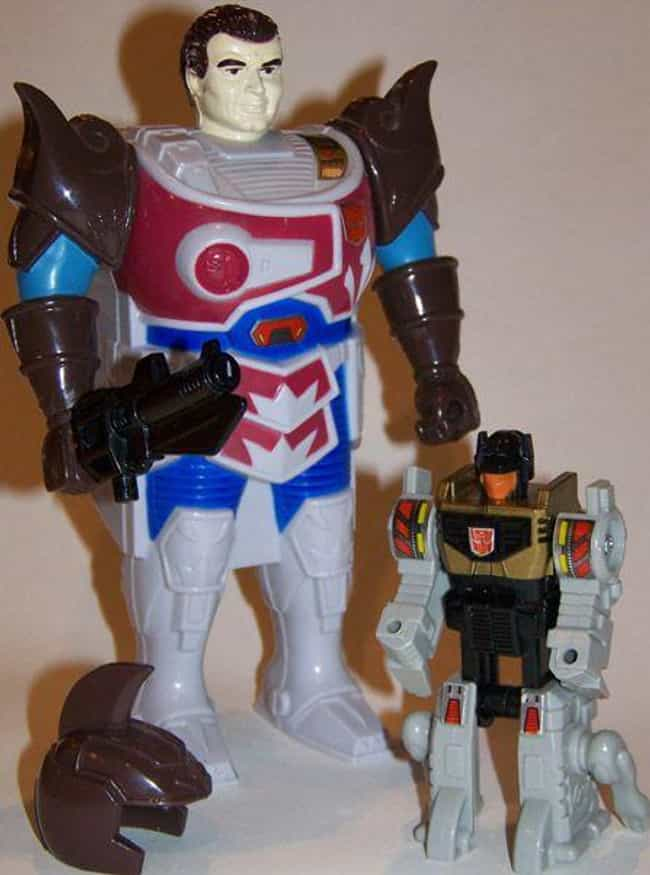 Grimlock (Classic Pretender) is listed (or ranked) 4 on the list 34 Ridiculously Stupid Transformers Toys