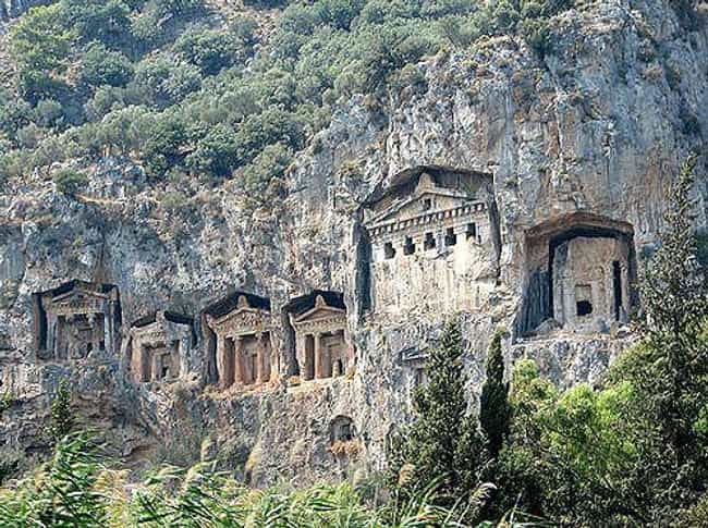 Lycian Tombs is listed (or ranked) 4 on the list Cool Things Carved Into Mountains & Cliffs Around the World