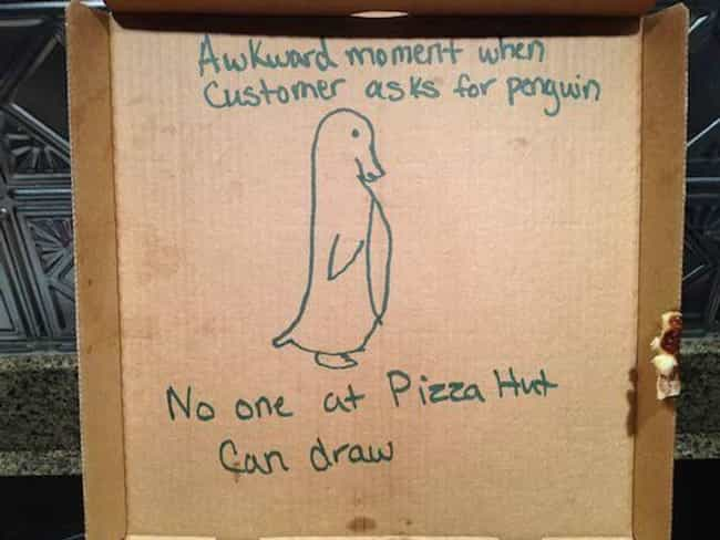 """Still, a Pretty Valiant ... is listed (or ranked) 4 on the list Hilarious """"Special Instructions"""" Pizza Deliveries"""