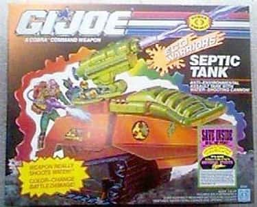SEPTIC TANK is listed (or ranked) 1 on the list The Worst G.I. Joe Vehicles of All Time