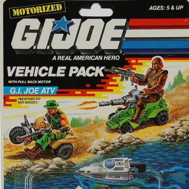 G.I. JOE ATV is listed (or ranked) 4 on the list The Worst G.I. Joe Vehicles of All Time