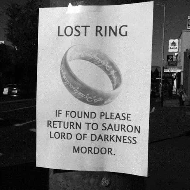 Have You Seen My Precious? is listed (or ranked) 4 on the list 26 Funny Lost and Found Signs That Are on Point