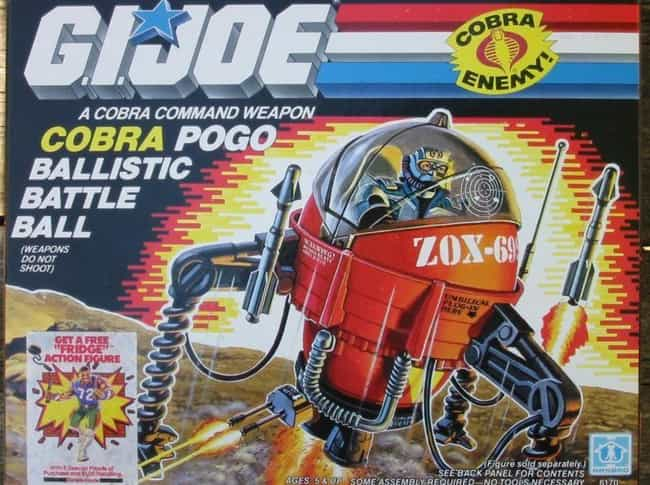COBRA POGO BALLISTIC BAT... is listed (or ranked) 3 on the list The Worst G.I. Joe Vehicles of All Time