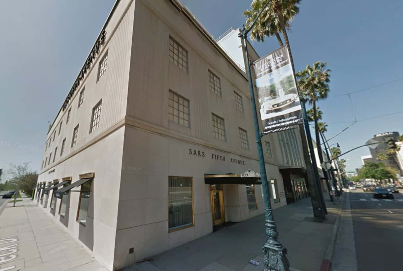 Saks Fifth Avenue Beverly Hill is listed (or ranked) 3 on the list Google Map Views of Celebrity Crime Spots