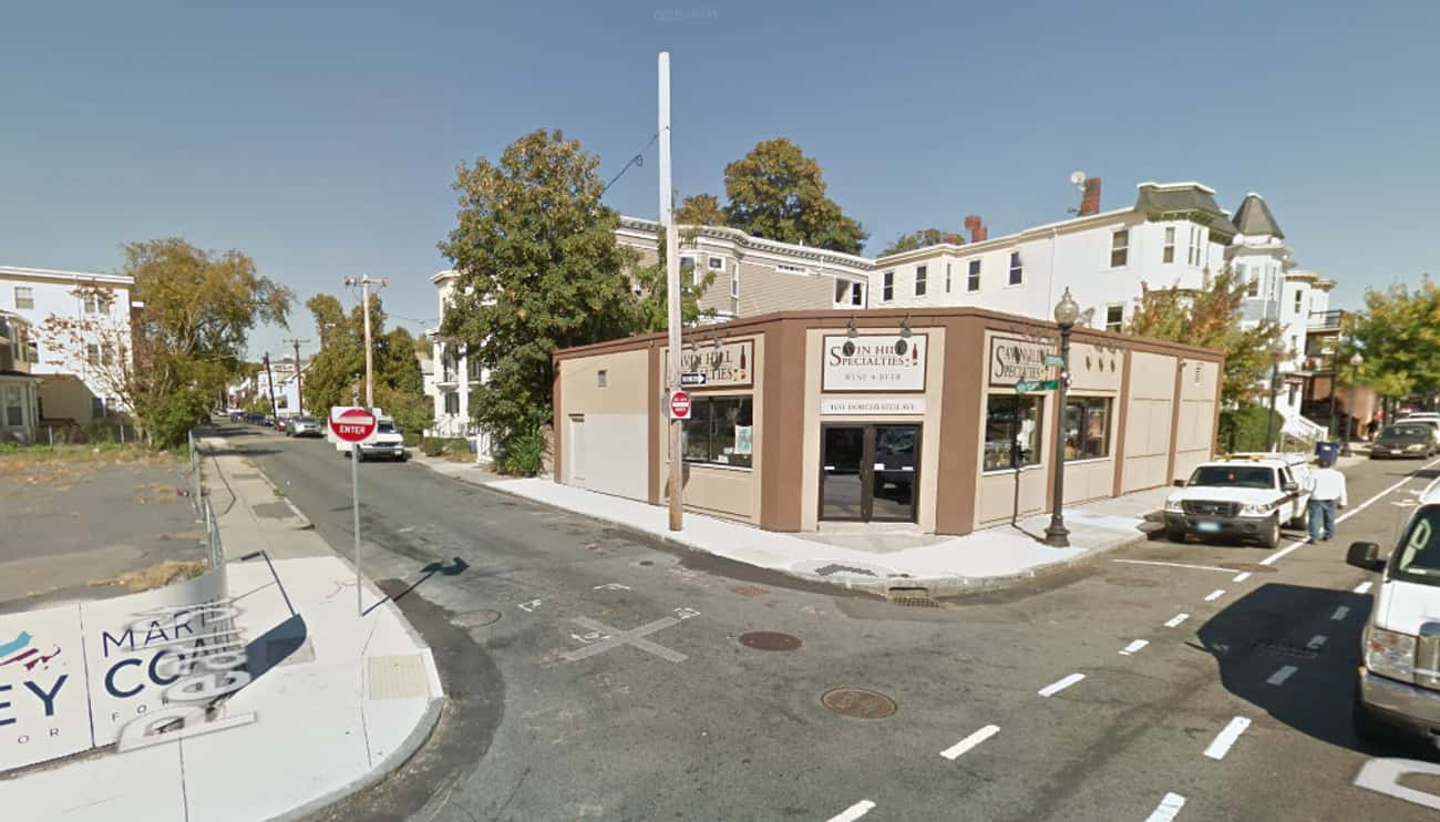 Corner of Dorchester Avenue an is listed (or ranked) 4 on the list Google Map Views of Celebrity Crime Spots