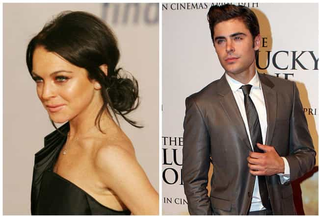 Lindsay Lohan and Zac Efron is listed (or ranked) 1 on the list Celebrities