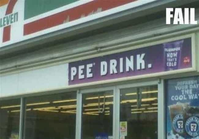 Slur-Pee! is listed (or ranked) 1 on the list Meanwhile in 7-11...