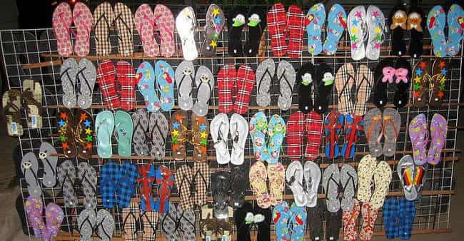 Thongs is listed (or ranked) 3 on the list Australian Slang Words You Probably Don't Know