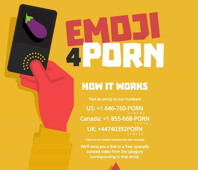 You Can Text Them for Porn is listed (or ranked) 2 on the list Things You Didn't Know About Pornhub