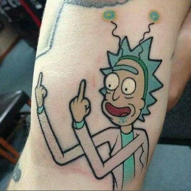PEACE AMONG WORLDS! is listed (or ranked) 1 on the list 28 Amazing Tattoos Inspired by Rick and Morty