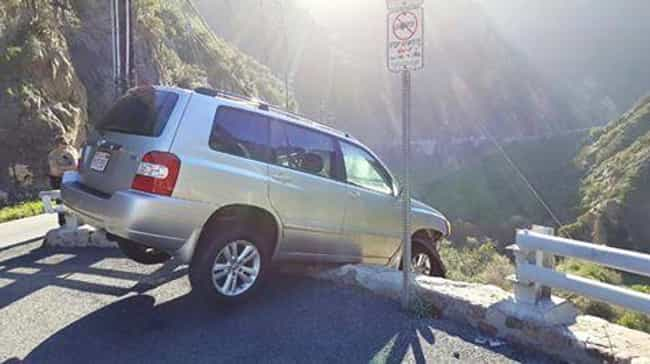 Man Almost Drives Off Cliff, T... is listed (or ranked) 2 on the list 13 People Who Escaped Death Then Died Immediately After