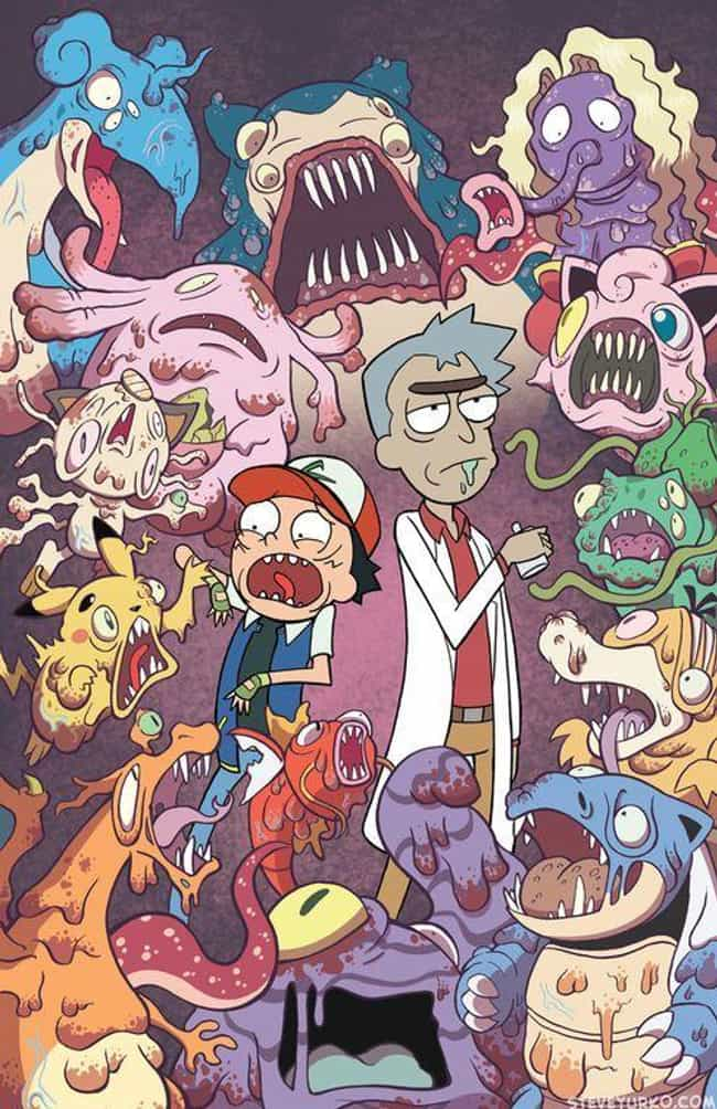 You Gotta *Burp* Catch 'Em... is listed (or ranked) 4 on the list The Schwiftiest Rick & Morty Fan Art