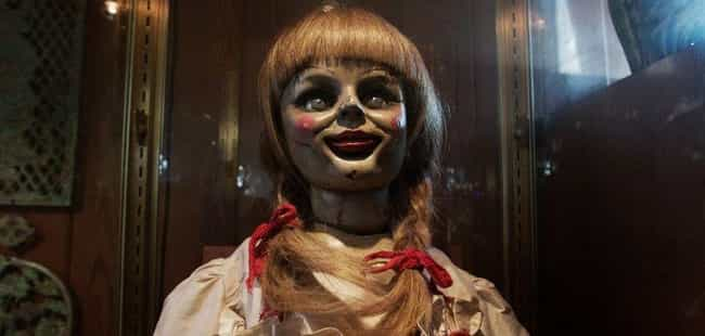 Annabelle from The Conju... is listed (or ranked) 1 on the list Cursed Objects from Horror Movies You Don't Want Near You
