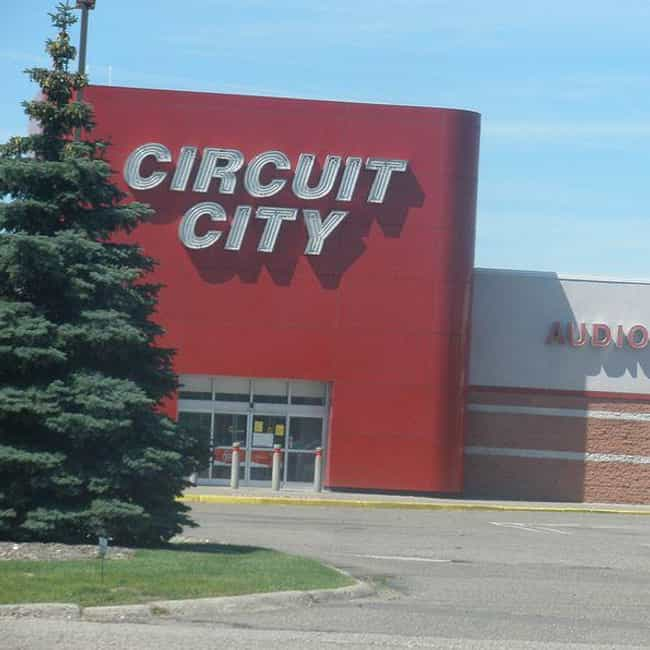 Circuit City is listed (or ranked) 4 on the list The Best Mall Stores from the 2000s That No Longer Exist