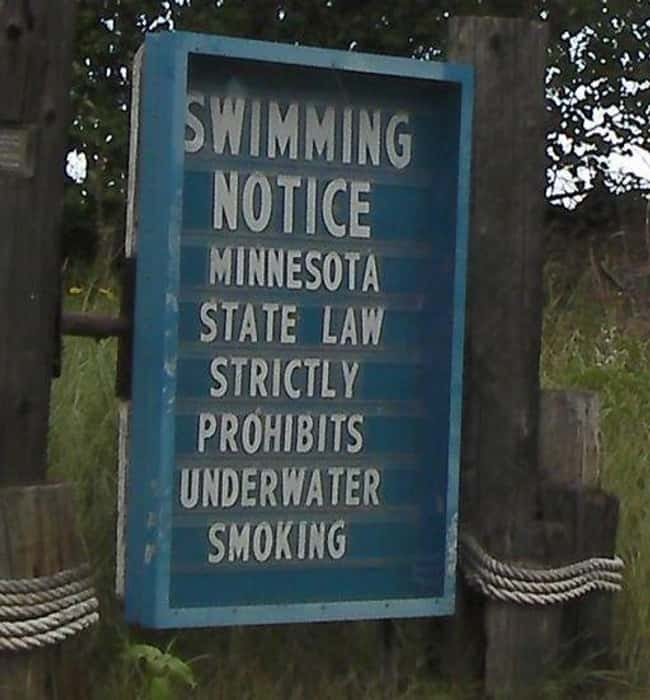 Meanwhile in Minnesota... is listed (or ranked) 8 on the list Signs That Have Some Explaining to Do