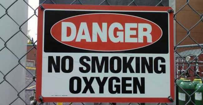 You Want a Toke of This Oxygen is listed (or ranked) 17 on the list Signs That Have Some Explaining to Do
