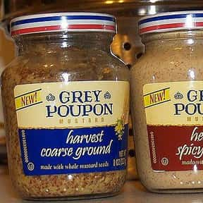 Grey Poupon is listed (or ranked) 4 on the list The Best Whole Grain Mustard Brands