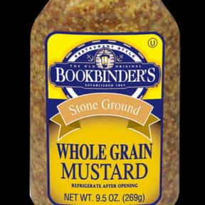 Bookbinders is listed (or ranked) 3 on the list The Best Whole Grain Mustard Brands