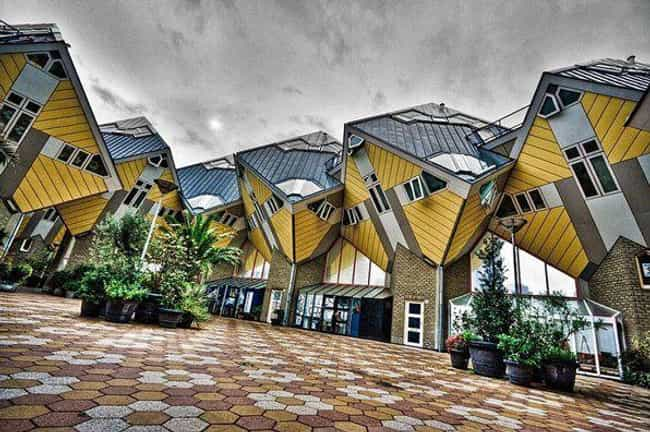 The Dutch Cube Houses of Rotte... is listed (or ranked) 1 on the list Weird and Wacky Building Shapes Around the World