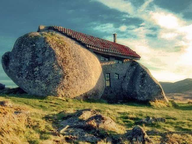 Stone House in the Mountains o... is listed (or ranked) 7 on the list Weird and Wacky Building Shapes Around the World