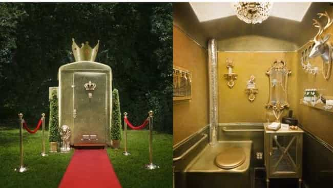 Behold: The Golden Porta Potty is listed (or ranked) 2 on the list Fancy Shmancy Porta Potties You Should Check Out