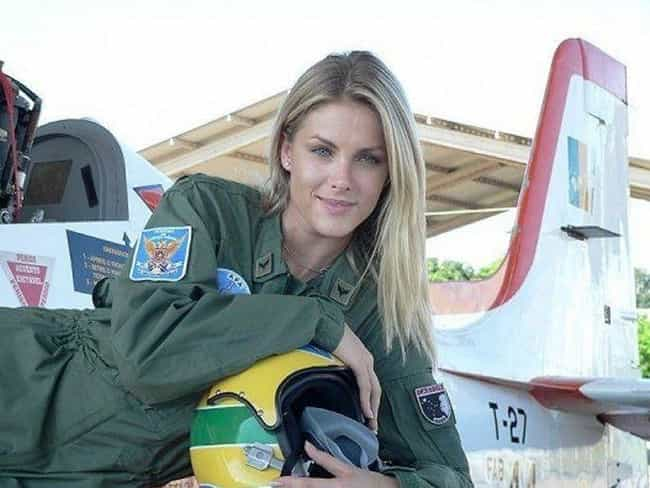 Top Gun blonde is listed (or ranked) 2 on the list The Most Stunning Female Soldiers Around The World