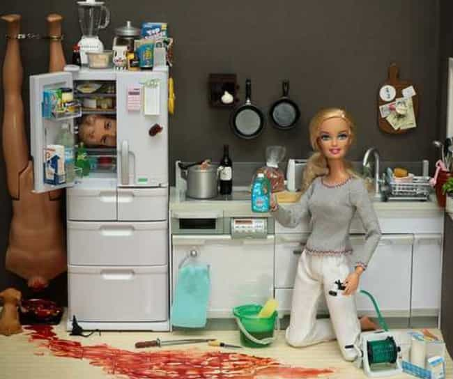 """Dial """"B"""" for Murder is listed (or ranked) 4 on the list 25 Hilarious Photos of Barbie Gone Wild"""