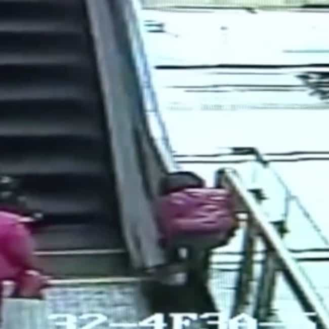 Girl Plummets to Death While P... is listed (or ranked) 3 on the list Horrible Escalator-Related Deaths