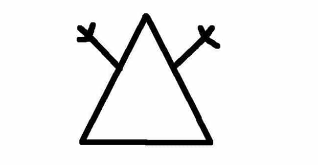 A Triangle with Hands is listed (or ranked) 2 on the list Hobo Signs and Code Symbols You Didn't Know Existed