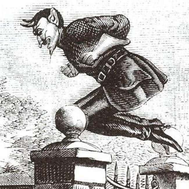 New Mexico: Spring-Heeled Jack is listed (or ranked) 31 on the list Craziest Humanoid Cryptids by State