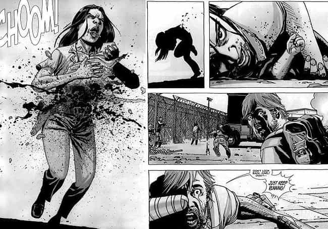 Lori and Baby Judith's Death is listed (or ranked) 3 on the list 10 Walking Dead Comic Scenes That Were Too Graphic For TV
