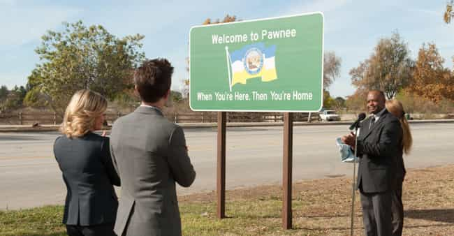 Pawnee is listed (or ranked) 3 on the list The Best Small Towns in Television History