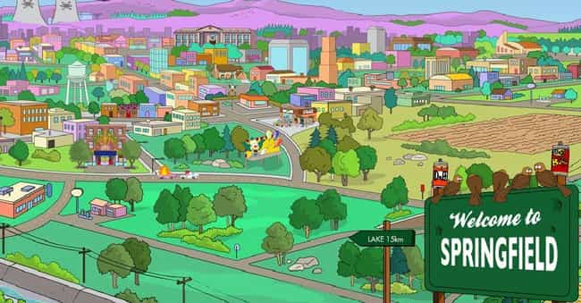 Springfield is listed (or ranked) 4 on the list The Best Small Towns in Television History