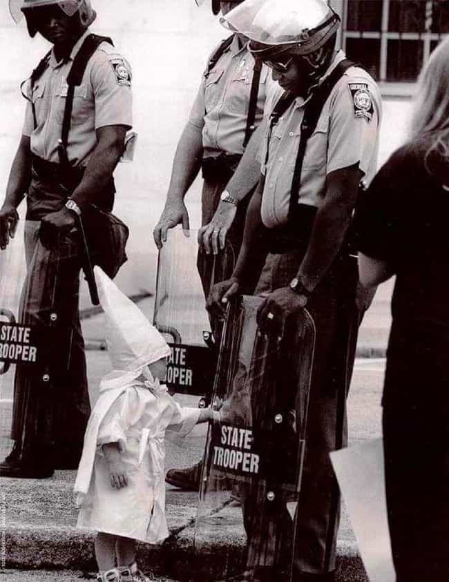 A Small Child in a Klan Outfit... is listed (or ranked) 1 on the list Pictures of Kids on the Wrong Side of History