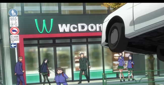 WcDonalds (McDonalds) is listed (or ranked) 1 on the list 26 Awesome Fake Brand Names Found in Anime