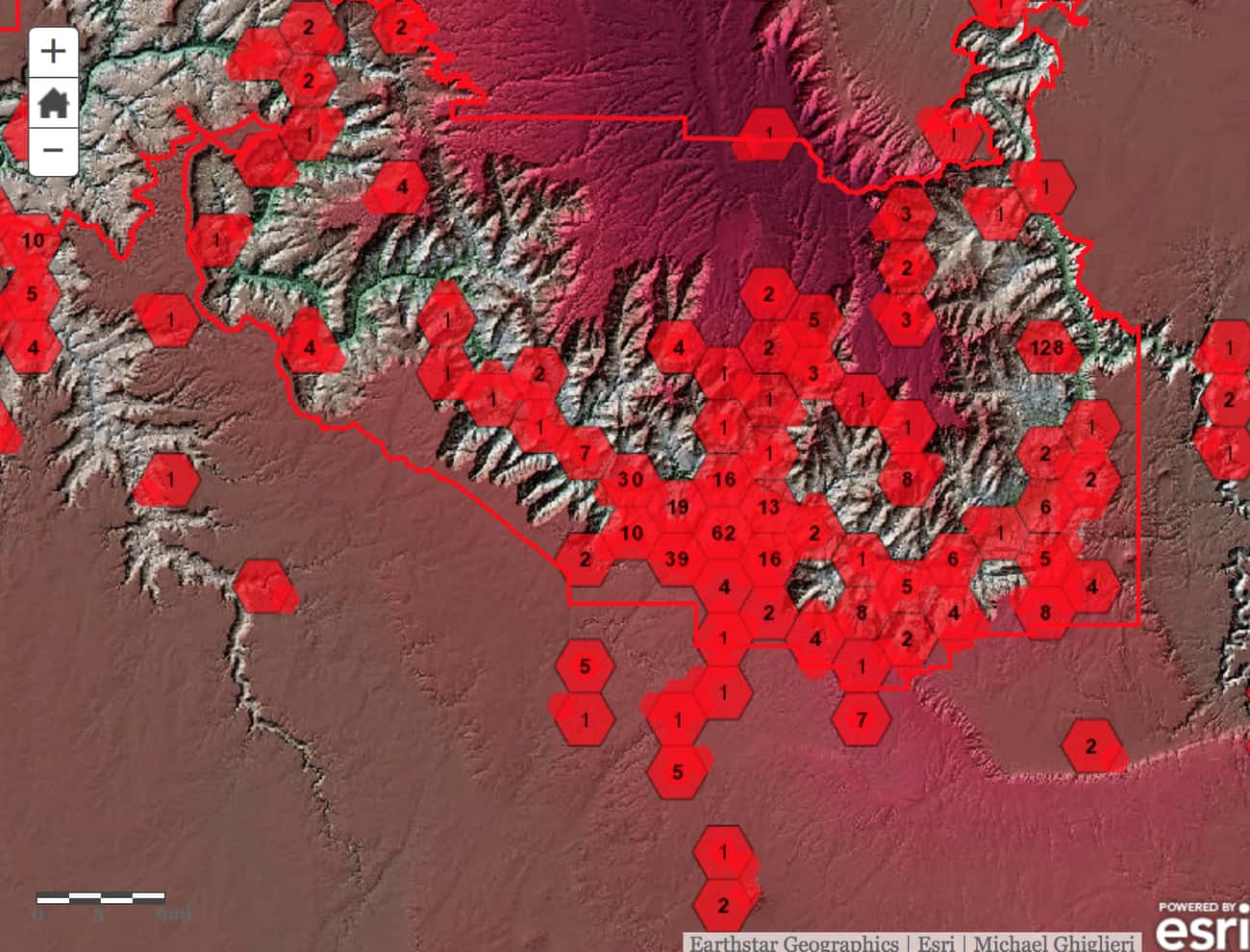There's an Interactive Map Of All The Lives That Have Been Lost At The Grand Canyon