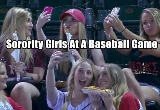 Thank God It Wasn't Free B... is listed (or ranked) 3 on the list 25 Funny Sorority Girl Photos You Have to See