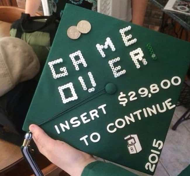 Time for Grad School is listed (or ranked) 3 on the list Funny Graduation Caps That Won the Whole Ceremony