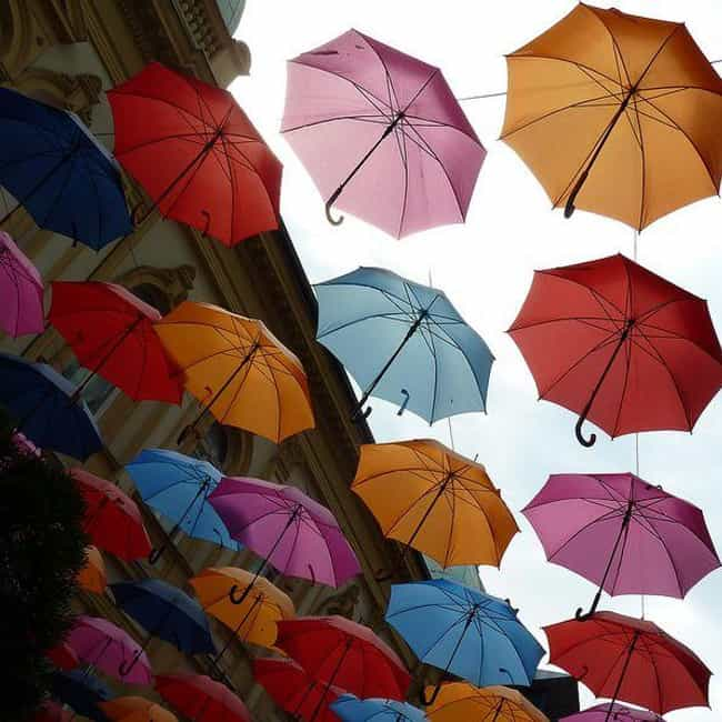 Umbrella is listed (or ranked) 2 on the list 16 Bad-Luck Wedding Gifts to Save for Couples You Hate