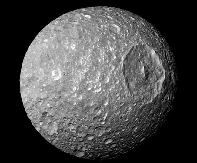 Mimas Is Essentially the Death... is listed (or ranked) 3 on the list Real Planets That Prove Our Galaxy Is Just Ripping Off Star Wars
