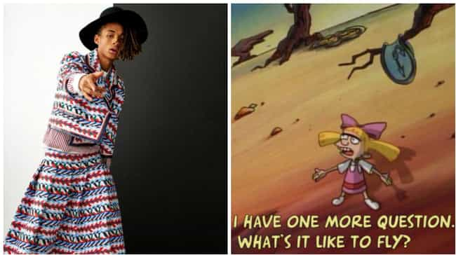 Jaden Gets His Helga On is listed (or ranked) 4 on the list All the Times Jaden Smith Dressed Like Hey Arnold